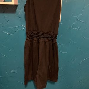 Romper with crotchet middle.